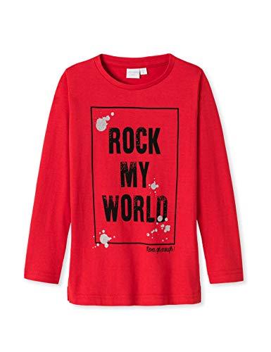 Schiesser Mädchen Punk Rock 1/1 T-Shirt Rot 500, (Herstellergröße: 116) (Langarm Mädchen 1 T-shirt)