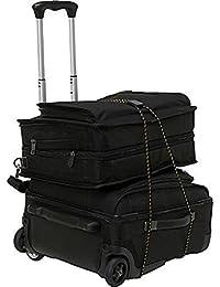 ATOOZED Folding Adjusted Luggage Shopping Cart Trolley