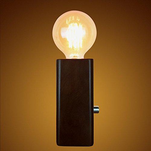 SHDT Kreativ Vintage Schreibtisch Lampe Loft Retro Holz E27 Edison Tisch Lampe Nachttisch Lampe Lesen neben Schlafzimmer Home Decor