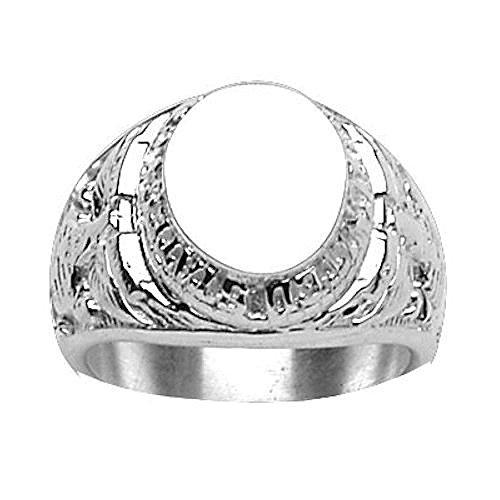 Marine Corps Ring (So Chic Schmuck - Siegelring Ring Fingerring US Marine Corps Oval Sterling Silber 925 - Individuell Gestaltbar: Gravur kostenfrei - Größe 61)