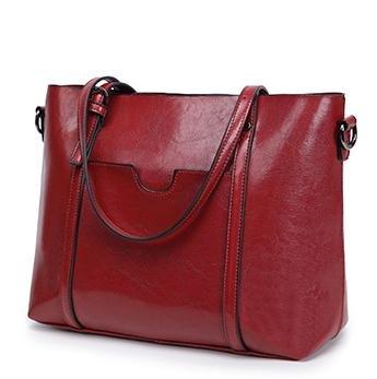 hohe kapazität pu - leder frauen taschen luxus weiblichen handtasche mode alle treffer schultertaschen klassische ledertasche Rot