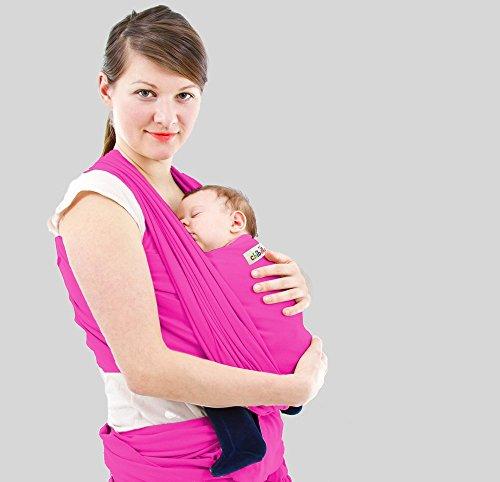 Babytragetuch - CuddleBug Baby Wrap - mit Gratisversand - Baby Carrier Sling - tragetuch baby (Pink)