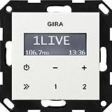 Gira Unterputz-Radio 228403 RDS ohne Lautsprecher ST55, reinweiß-glänzend