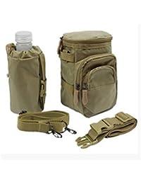 Khaki : Kingko® Fanny Pack Waist Pack Water Bottle Holder Pockets Climbing Travel Hiking Waist Bag Pack Waistpacks...