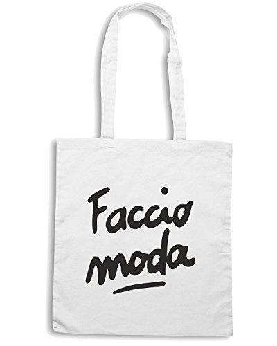 T-Shirtshock - Borsa Shopping TDM00070 faccio moda Bianco