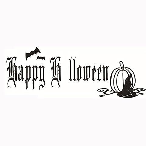 Halloween wasserdichte Tattoo-Aufkleber,Happy Halloween Home Haushalt Zimmer Wandaufkleber Mural Decor Decal Removable Neu By JIANGFU (12)