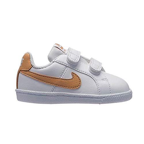 Nike Court Royale TDV, Zapatillas de Estar por casa Bebé Unisex, Multicolor White/Club Gold 105...
