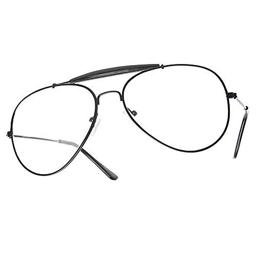 Kiss Brillen in neutralen mod. AIR FORCE 2 stil Aviatore - optischen rahmen VINTAGE mann frau unisex - CLASSIC/schwarz