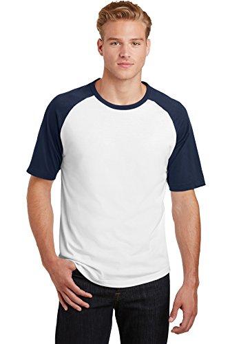 Colorblock Raglan-jersey-shirt (Sport-Tek® Short Sleeve Colorblock Raglan Jersey. T201 White/ Navy 2XL)