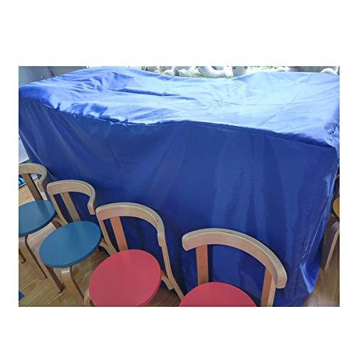 JIANFEI Housse Protection Salon De Jardin Table Chaise Étanche À La Poussière, 3 Couleurs 10 Taille personnalisable (Couleur : Bleu, taille : 60x190cm)