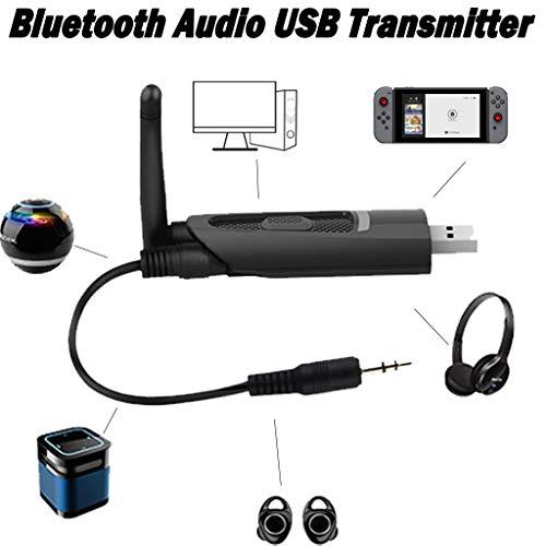 TianranRT★ Transmisor Audio Bluetooth 5.0 Con Soporte