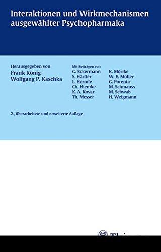 Cover »Interaktionen und Wirkungsmechanismen ausgewählter Psychopharmaka«