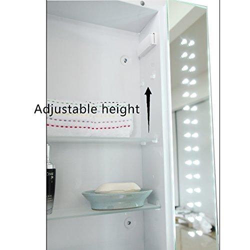 seababyhouse 60 led iluminated bathroom mirror cabinet storage with