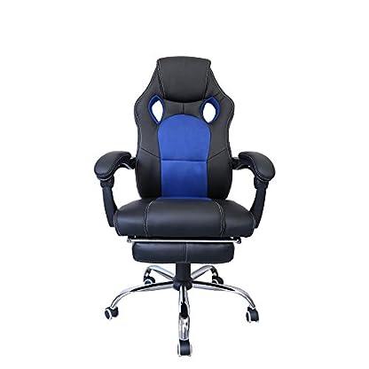 41cJj1ctdcL. SS416  - huigou HG® Silla Giratoria De Oficina Gaming Chair Apoyabrazos Acolchados Premium Comfort Silla Racing De Carga Altura Ajustable