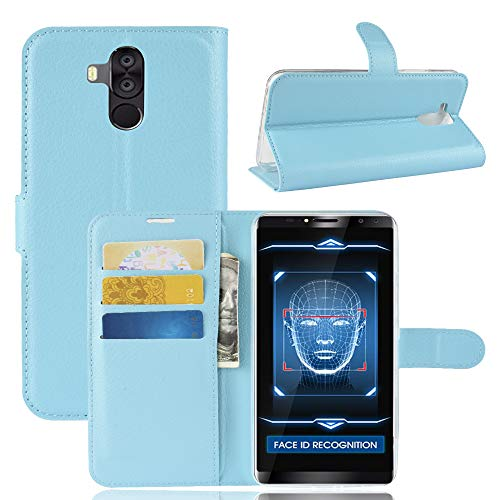 SHIEID Oukitel K6 Hülle Brieftasche Hülle Kunstleder Handyfall Handyfall Für Oukitel K6(Blau)