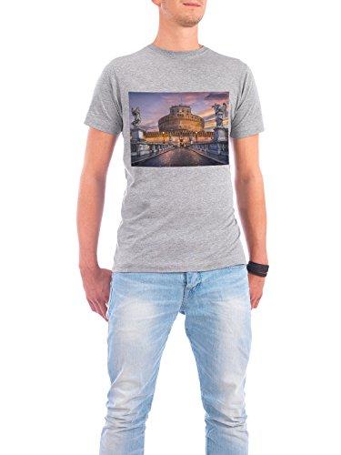"""Design T-Shirt Männer Continental Cotton """"Castel Sant Angelo, Roma"""" - stylisches Shirt Städte / Rom von Domingo Leiva Nicolás Grau"""