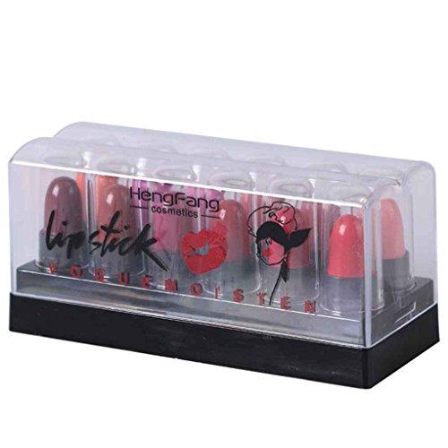 Aiming 12 Colores/Set Mini Impermeable Labio lápiz Mujeres Niñas portátil Maquillaje del lápiz Labial Bálsamo Labial Hidratante