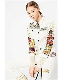 Desigual chaqueta exotic white. Talla 46