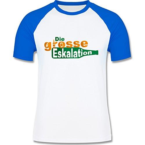 Festival - Die große Eskalation - zweifarbiges Baseballshirt für Männer Weiß/Royalblau