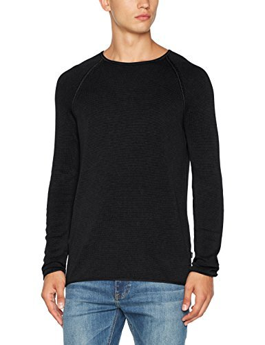 Joop! Jeans Herren Pullover 15 Jjk-05HOGAN 10003105, Schwarz (Black 001), Medium (Gewaschen Slim-fit-denim)