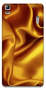 The Racoon Lean printed designer hard back mobile phone case cover for Lenovo A7000. (Gold Silk)
