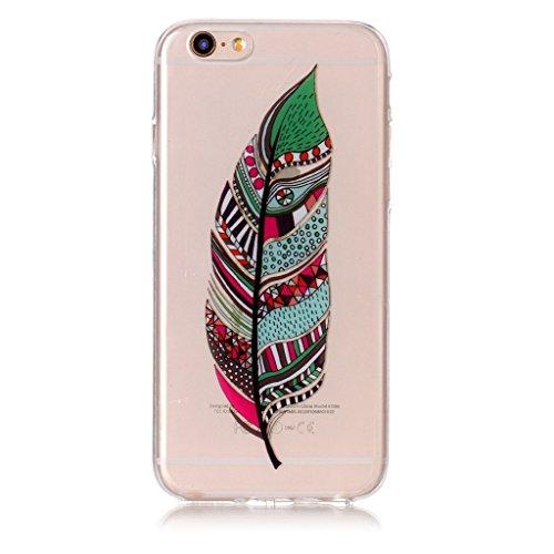 Per iPhone 6 Plus / iPhone 6s Plus Cover , YIGA Fiori a righe Cristallo Trasparente Silicone Morbido TPU Case Shell Caso Protezione Custodia per Apple iPhone 6 Plus / iPhone 6s Plus (5,5 pollici) XS70
