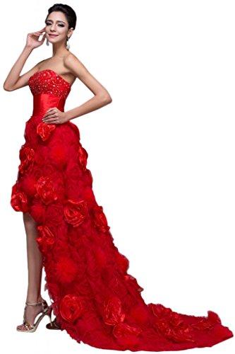 Sunvary Japan basso, colore: rosso Organza, Pageant Gowns per abiti da sera, da donna Red