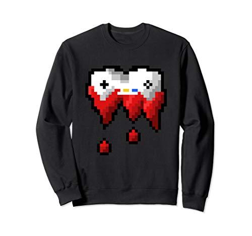 Pixel Joystick Bleeding Game Controller Blood Dripping Gamer Sweatshirt (Halloween-party 2019 Adventure World)