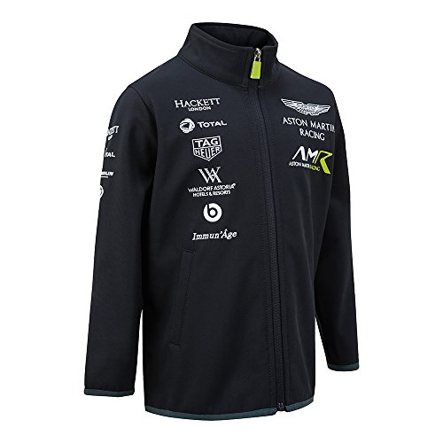 ASTON MARTIN 2018 Racing Kinder Softshell Jacke Kinder Junior 3–14 Jahre, Navy, Child (M) 6-8yrs (115-130cm Height)