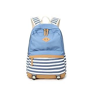 41cJnVSArIL. SS324  - Mochila Escolar para Hombre/Mujer Lona Mochila Elegante de Barra Mochilas para Adolescentes Chicas Chicos Estudiantes-Azul