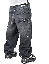 Jeans THEBLUESKIN Skate Rap Pantaloni Baggy blueskin Hip Hop dc8769ec9823