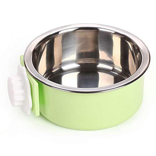 (NaiCasy Crate Hundenapf Abnehmbarer Edelstahl-Tasse hängen Coop Käfig Pet Feeder Bowl Minor Wasser für Hunde Katzen Kaninchen Vögel (grün), Kleine Waren für Haustiere)
