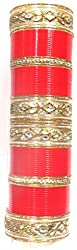 Jewelshingar Jewellery Fine Red Plated Punjabi Chura For Women ( 36725-punjabi-chura-2.8 )