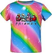 Aoliandatong Camiseta unisex para niños de 3 a 14 años con diseño de arco iris entre nosotros