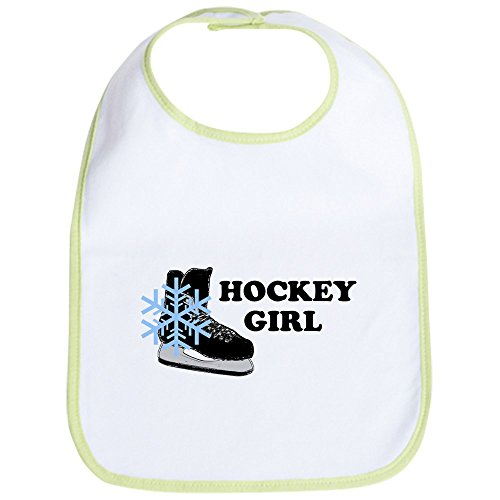 CafePress-Hockey Girl Ice Skate-Cute Stoff Baby Lätzchen, Toddler Lätzchen, Grün -