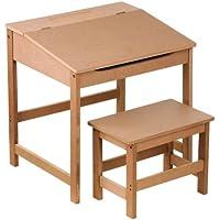 Premier Housewares Children's Desk and Stool Set - Natural