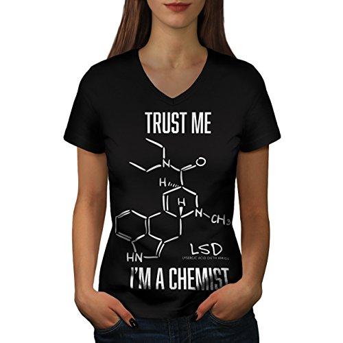 vertrauen-mich-ich-bin-chemiker-damen-neu-schwarz-s-t-shirt-wellcoda