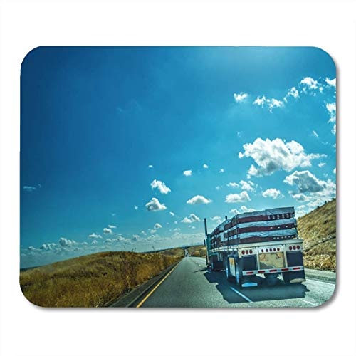 Deglogse Gaming-Mauspad-Matte, Highway Driver Truck on Interstate Southbound in California USA Mouse Pad, Desktop Computers mats