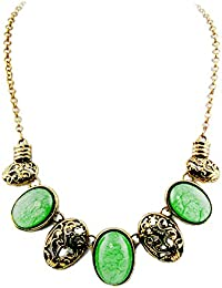 Collare bisutería Joya barata moda Mujer Verde Carmen