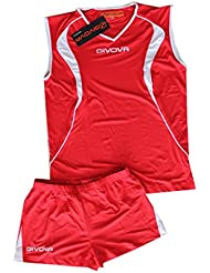 givova Kit de Football Flight volleyball-red/Blanc Taille 2 X L