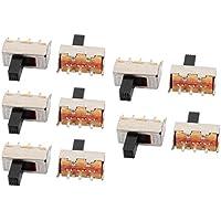 Aexit 10 Stk Plug-In-Schalter 2 Position 3P SPDT Mikro Schiebeschalter Verriegelung digitales Ausgangsschalter Produkt Schalter