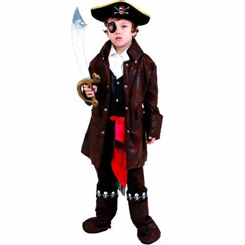 Dress up America Caribbean Boy Pirate Costume Set (S) by Dress Up - Caribbean Pirate Boy Kostüm