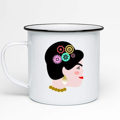 Positivos Tazas metálicas Vintage Frida Kahlo