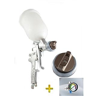 Anest Iwata AZ3 AirGunsa HTE2 AV Lackierpistole + Manometer (Düsengröße: 1,0mm)