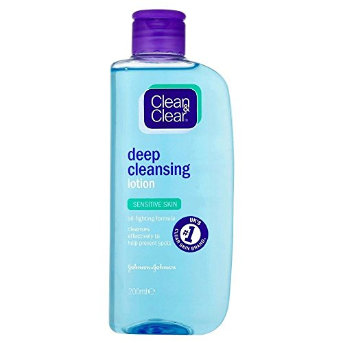Clean & Clear Deep Cleansing Lotion - Sensitive (200 ml) - Packung mit 2 -