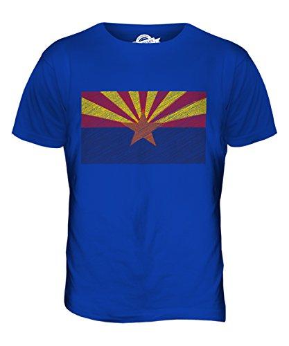 CandyMix Bundesstaat Arizona Kritzelte Flagge Herren T Shirt Königsblau
