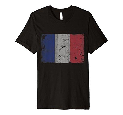 Vintage Grunge French Patriotische Flagge von Frankreich Shirt