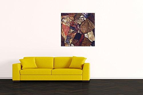 Legno 70x70 cm Multicolore The Death Struggle ArtPlaza Schiele Egon Agony Pannello Decorativo
