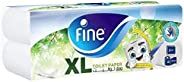 Fine Sterilized Toilet Paper Extra Long, 400 Sheets - 2 Ply, Pack of 10 Rolls