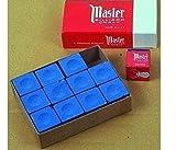 Original USA Gesso da Biliardo Master, 12 pezzi in una scatola (blu / verde / rosso / grigio) - blu